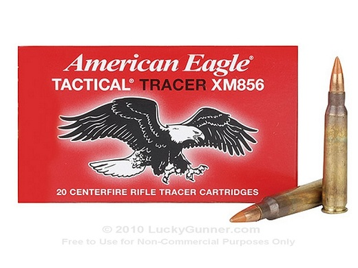 5.56 NATO/ .223 64 grain American Eagle Tactical Tracer Rounds X